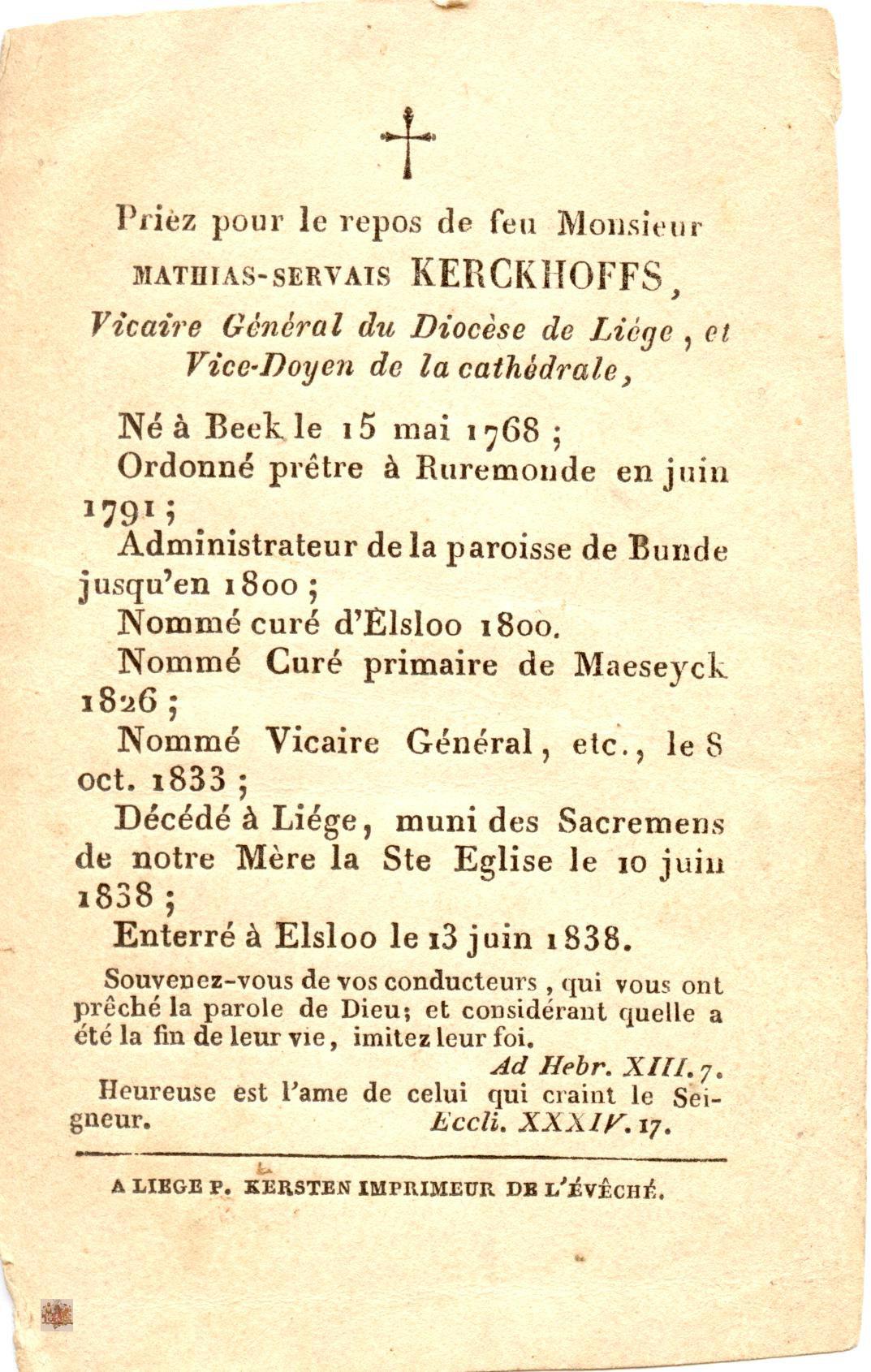 bidprentje Pedro Hendrik Antonij Bavo Sassen C.S.S.R. (tekst)