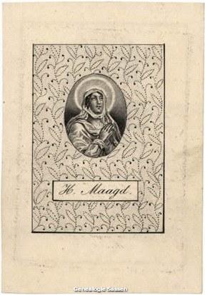 bidprentje van Johannus Baptist Mahie (afbeelding)
