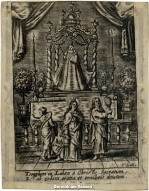 bidprentje van Jacobus van Beugen en Theodora Joanna Sassen (afbeelding)