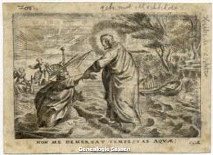 Perkamenten bidprentje Thyssens-Clabbers (afbeelding)