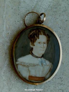 Medaillon,  ivoor,  met haar (portret)