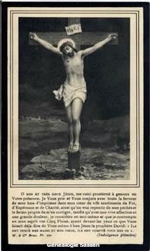 bidprentje Henri Joseph Pierre Louis Calmeyn (afbeelding - Frans 2)