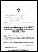 overlijdensannonce George Sassen
