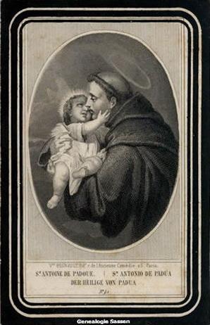 bidprentje  Eugenia Albertina Joanna Sassen - afbeelding Frans