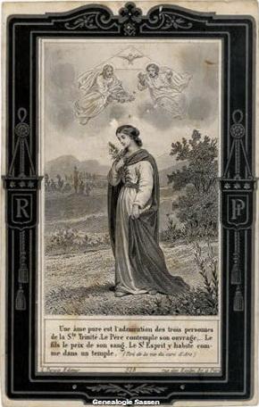 bidprentje Eugenie Augustine Sassen (afbeelding)