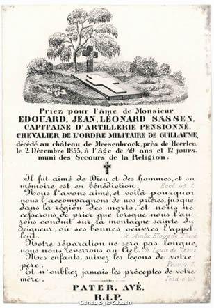 bidprentje Eduardus Joannes Leonardus Sassen (tekst - Frans)