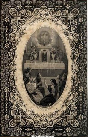 bidprentje Eduardus Joannes Leonardus Sassen (afbeelding - Duits)