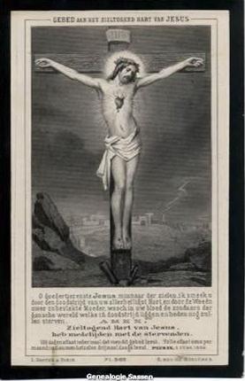 bidprentje Egberta Maria Ferdinanda Louisa Josephine Sassen (afbeelding)