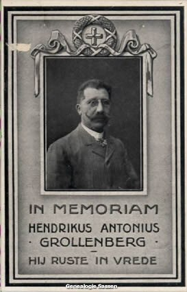 bidprentje Hendricus Antonius Grollenberg (afbeelding)