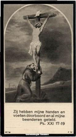 bidprentje Maria Eugenia Petronella Sassen (afbeelding)