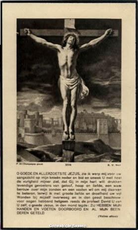 bidprentje Francisca Maria Sassen (afbeelding)