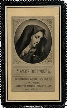 bidprentje Wilhelmina Georgia Francisca Sassen (afbeelding)