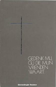 bidprentje Willy Sassen (afbeelding)