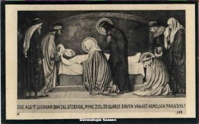 bidprentje Christina Petronella Johanna van der Sanden (afbeelding)