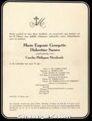 annonce Marie Eugénie Georgette Hubertine Sassen