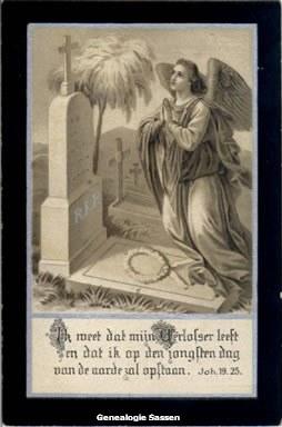 bidprentje Maria Antoinette Francisca Sassen (afbeelding)
