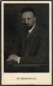 bidprentje Franciscus Ignatius Hubertus Sassen (foto)