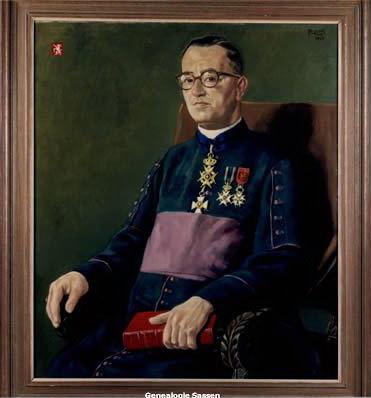 portret Mgr.Prof.Dr. Ferdinand Léon Rudolphe Sassen
