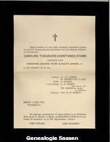 overlijdensannonce Carolina Theodora Constantia Stams