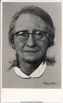 bidprentje Gabrielle Josephine Françoise Vos (portret)