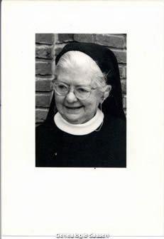 bidprentje Maria Elisabeth Albertina Sassen O.S.B. (foto)