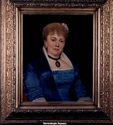 portret  Eugenie Leonie Augustine Sassen Doek,  Leon Herbo