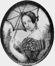 Mathilda Anna Sassen (Ivoor,  8,5 x 6,5 cm)