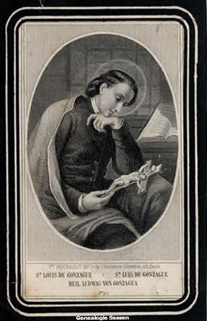 bidprentje Eugenia Albertina Joanna Sassen (afbeelding)