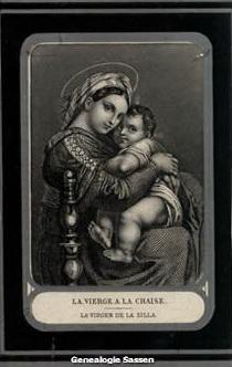 bidprentje Louisa Maria Elisabeth Sassen (afbeelding)