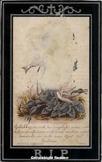 bidprentje  Maria Jacoba Josephina Sassen (afbeelding)