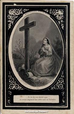 bidprentje  Francisca Mathilda Bernardina Antoinetta Sassen (afbeelding)