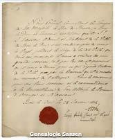 dankbetuiging van de Commandant van de Pruisische troepen