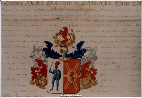 Fragment van de adelsbrief Pieter de Lange