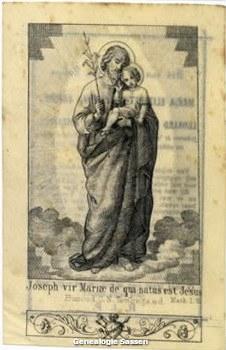 bidprentje Maria Elisabeth Josephine Sassen (afbeelding)