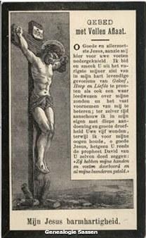 bidprentje Johannes Baptista Paulinus Sassen (afbeelding)