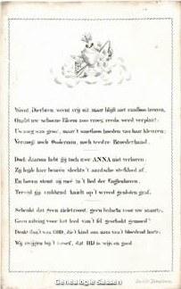 bidprentje Anna Maria Petronella Sassen (tekst)