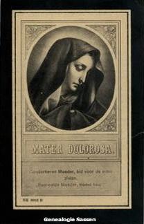 bidprentje Maria Sassen (afbeelding)