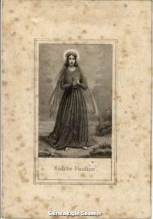 bidprentje Maria Theresia Hoctin (afbeelding)