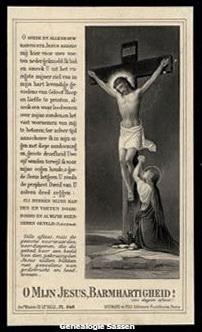bidprentje Josephus Franciscus Maria Sassen (afbeelding)