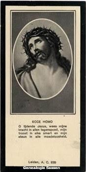 bidprentje Mr. Leonardus Antonius Marie Sassen (afbeelding)