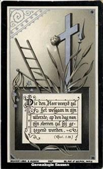 bidprentje Joannes Franciscus Emmanuel Rouppe van der Voort (afbeelding)