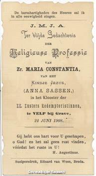 Professie Anna Wynanda Maria Josephina Sassen (tekst)