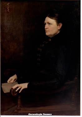 portret Anna Josephina Mathilda Conrads,  Anton van Welie,  doek,