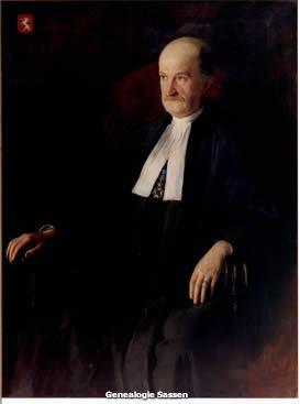 portret Mr. Antonius Henricus Sassen,  Anton van Welie,  doek,