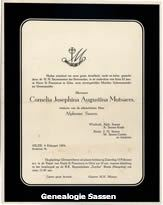 bidprentje Cornelia Josephina Augustina Mutsaers