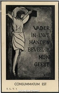 bidprentje Alphonse Marie Carel Joseph Antoon Sassen (afbeelding)