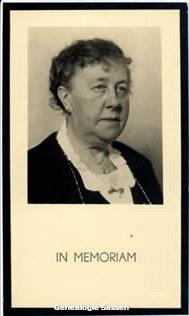 bidprentje Cornelia Josephina Augustina Mutsaers (foto)
