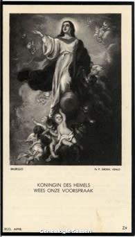 bidprentje Cornelia Josephina Augustina Mutsaers (afbeelding)
