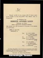 overlijdensannonce Hubertus Antonius Sassen