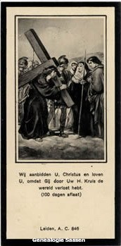 bidprentje Hubertus Antonius Sassen (afbeelding)